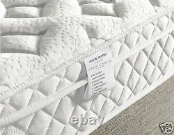 10 Thick 1000 Pocket Sprung & Memory Foam Mattress Aloe Vera Top DESTINY