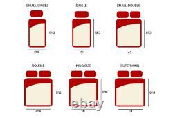 2000 Memory Foam Pocket Sprung Mattress, 3ft 4ft 4ft6 Double 5ft King Size