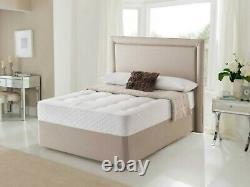 25000 Luxury Memory Foam Pocket Sprung Mattress Single Double King All Comforts
