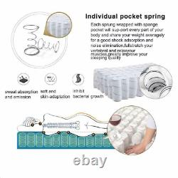 3000 POCKET SPRUNG MEMORY MATTRESS LUXURY 3FT 4FT 4FT6 5FT Bed Mattress UK