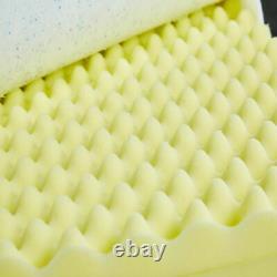 3FT, 4FT, 4FT6,5FT 3000 Pocket Sprung Cool Blue Memory Foam Mattress Mattress