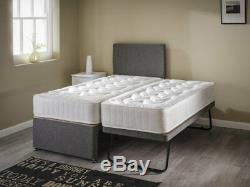 3ft Single Guest Visitor Bed 3 In 1 With Mattress Headboard Pullout Trundle Set