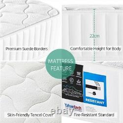 3ft Single Mattress 7 Zone Memory Foam Pocket Sprung Mattress Medium Orthopaedic