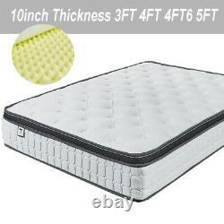 4000 Memory Foam Pocket Sprung Mattress, 3ft 4ft 4ft6 Double 5ft King Size