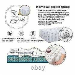 4000 Memory Foam Pocket Sprung Mattress, 3ft 4ft 4ft6 Double 5ft King Size/