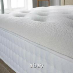 4350 Tufted Firm Deluxe Memory Foam Pocket Sprung Mattress Single Double king