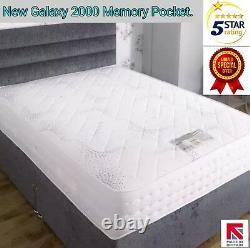 5FT King Size 2000 Pocket Spring Memory Foam Tencel Luxury Mattress Sale 50% New