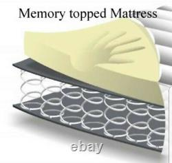 6FT S. King 1500 Pocket Sprung Memory Foam Mattress Divan Bed Set + Storage SALE