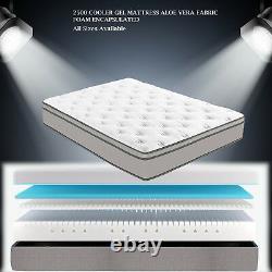 6ft Super Kingsize Pocket Spring Cool Gel Memory Mattress Encapsulated Foam
