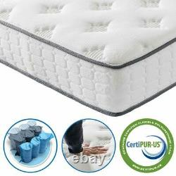 9.8 Inch Mattress Breathable Foam Individual Pocket Spring Medium Plush Feel