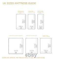 9 Luxury pocket sprung memory foam mattress 2ft6, 3ft, 4ft, 4ft6, 5ft, 6ft