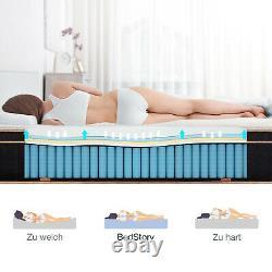 BedStory 10in Pocket Sprung Memory Foam Hybrid Luxury Mattress Single In Box
