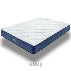 BedStory 8in Memory Foam Pocket Sprung Mattress Medium Firm 135x190x22cm 4ft6