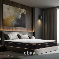 BedStory Mattress Memory Foam Pocket Spring Double 4FT6 Bamboo Fiber Cover