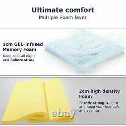 Bedstory 10in Pocket Spring Double Mattress Memory Foam Hybrid Mattresses Firm