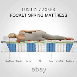 Bedstory Single Double Memory Foam Pocket Sprung Mattress 7 Zones 10in 11in