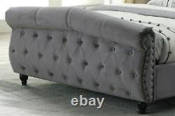 Brand New 4ft6 Double Luxury Sleigh Bed With Pocket 2000 Zeus Mattress Uk Q