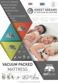 Brand New Zeus Memory Foam And Pocket Spring Mattress Next Working Day Delivery
