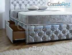 Chesterfield Divan Bed + Choice of Luxury Pocket Mattresses + IBEX HEADBOARD