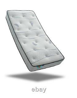 CoolBlue Memory Foam Pocket Sprung Mattress 2FT6, 3FT, 4FT 4FT6, 5FT, 6FT