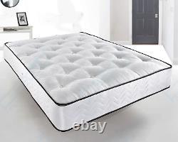 Damask Memory Foam Tufted Pocket Mattress, 3ft Single 4ft6 Double 5ft King Size