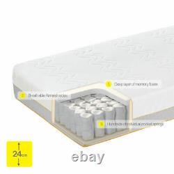 Dormeo Options Hybrid Mattress Double, Memory Foam / Pocket Spring, Medium firm