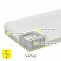Dormeo Options Hybrid Mattress in 4 Sizes, Memory Foam / Pocket Spring Hybrid