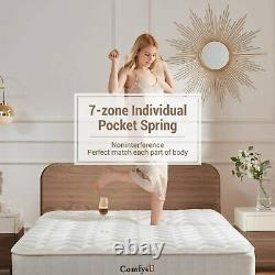 Double Bed 4FT6 Size 23 cm Pocket Sprung Mattress Memory Foam 7 Zoned Support
