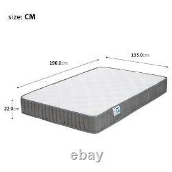 Double Mattress 4ft6 Memory Foam Pocket Spring Mattress Medium Firm (137x190cm)