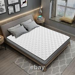 GUDE NIGHT Memory Foam Mattress Sprung Bed orthopaedic 3ft Single 4ft6 5ft King