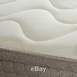 Happy Beds Bamboo Pocket 1500 Memory Foam Mattress Handmade Pocket Sprung New