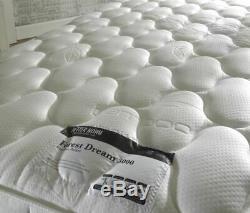Happy Beds Forest Dream 3000 Pocket Sprung Memory Foam Mattress Bamboo Yarn