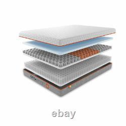 Hybrid Mattress Memory Foam Pocket Springs Octaspring Anti-bacterial Bed Topper