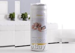 King Size Dormeo Mattress Memory Foam & Pocket Spring Hybrid 24cm Depth in White