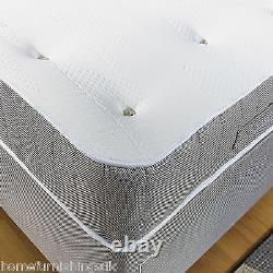 LUXORIOUS 11 inch Deep Memory Foam Pocket Sprung Mattress IN 3FT, 4FT6,5FT 6F