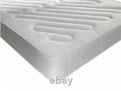 Lined Pocket Sprung Memory Foam Quilted Mattress 3ft Single 4ft6 Double 5ft King