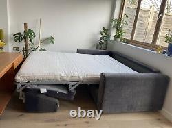 Luxurious Emily sofa bed in mercury velvet Pocket Sprung Memory Foam Mattress