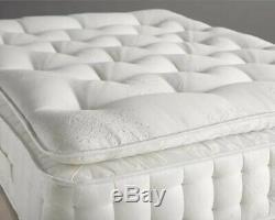 Luxury 3000 Pocket Sprung Memory Pillow Top SUPER KING Mattress