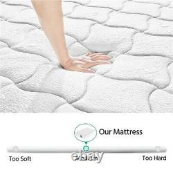 Luxury 4FT6 Double Mattress Memory foam Mattress 9-zone Pocket Sprung Mattress