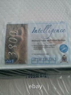 Luxury 4ft 6in Intelligence Pocket Springs Memory Foam Mattress Only
