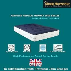 Luxury Bamboo Medical Memory Pocket Spring Mattress 3FT Double 4FT6 King 5FT 6FT