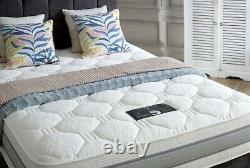 Luxury CELESTE 4FT6 1500 Pocket Sprung MEMORY 3D Mattress with Bed and draws