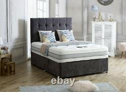 Luxury CELESTE 5FT Bed with Draws and 1500 pocket sprung Mattress