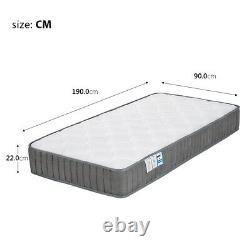 Luxury Single Memory Foam Mattress 9-zone Pocket Sprung Mattress Anti Allergy