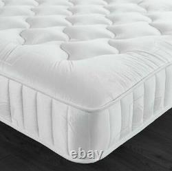 Luxury quilted 1500 pocket memory foam sprung mattress 3ft single double king
