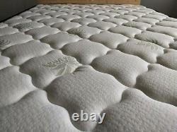 Mattress High Density Memory Foam Sprung with Pocket Spring System Aloe Fabric