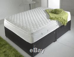 Memory Foam 3000 Pillow Top Pocket Mattress, 3ft 4ft 4ft6 Double 5ft King Size