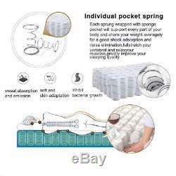 Memory Foam Hybrid Orthopaedic Pocket Sprung Mattress 3ft. 4ft. 4ft6.5ft/9.5 Inch