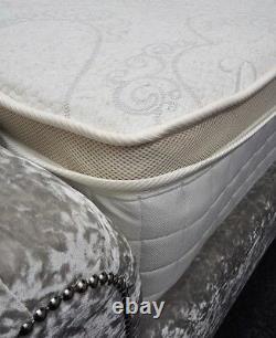 Memory Foam Tencel 5ft King Pocket Sprung Pillow Top Mattress Hand Made Save 50%