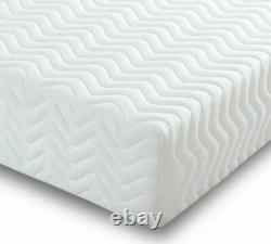 Modern Grey Fabric Bed Optional Memory Foam Mattress 3ft, 4ft, 4ft6, 5ft